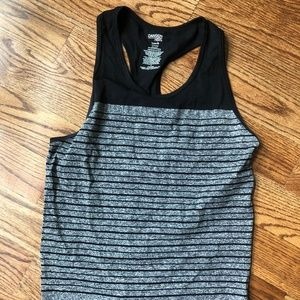 Danskin Now Black/Gray S Tank Top